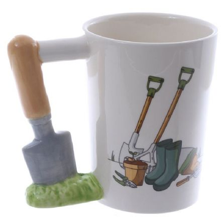Trowel Shaped Handle Mug